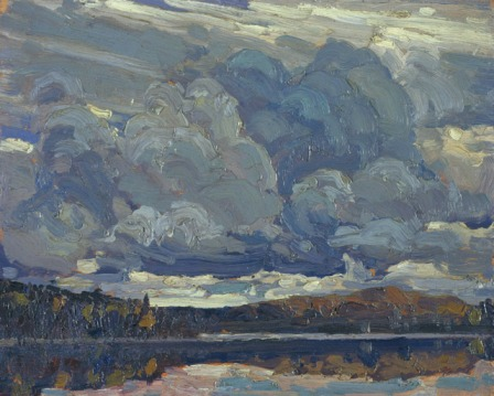 Tom Thomson Grey Sky 1914 oil on wood