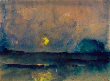 Emil Nolde Half Moon over the Sea 1945