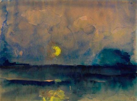 Emil Nolde Half Moon over the Sea 1945