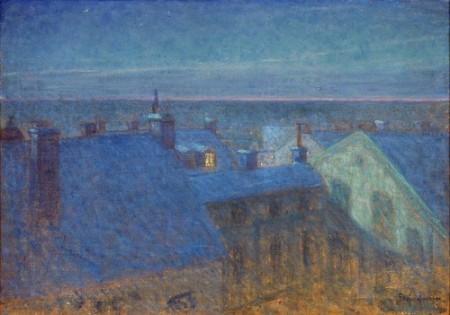 Eugene Fredrik Jansson Moonlight Night 1896 oil on canvas