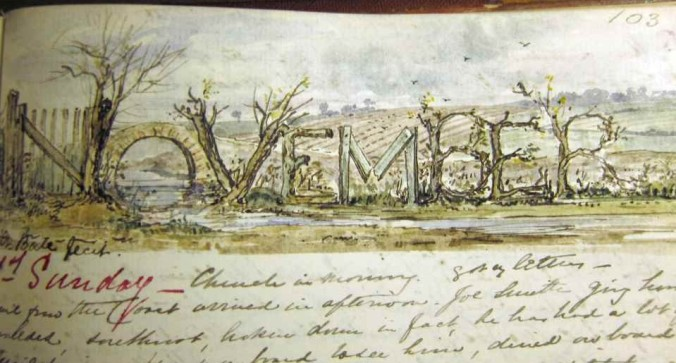 John Edward Bale, watercolor November-1874