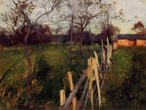 John Singer Sargent Home Fields c1885 oil on canvas