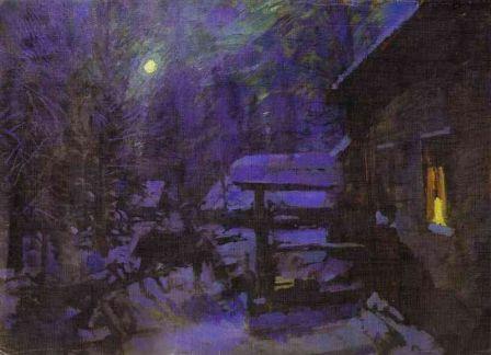 Konstantin Korovin Moonlit Night period Winter 1913 oil on canvas