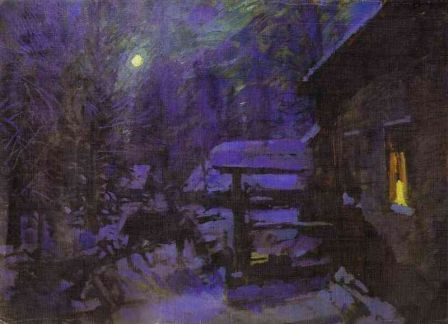 Konstantin Korovin Moonlit Night period Winter 1913 oil on canvas