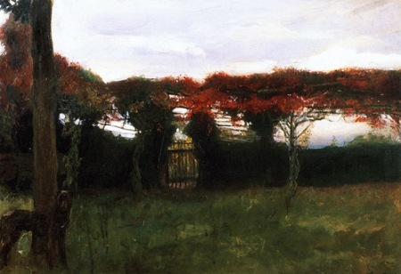 Max Slevogt Red Arbor with Dog 1897c