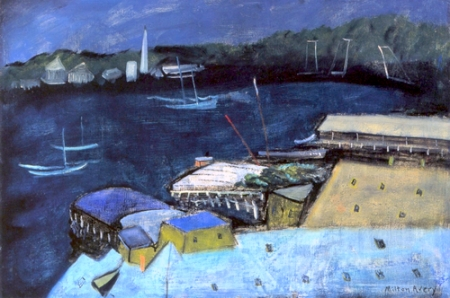 Milton Avery Harbor at Night 1932