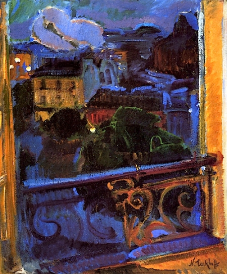Nicolas Tarkhoff Paris, Montparnasse at Night c1905