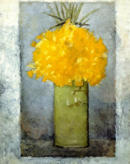Pierre Bonnard Daffodils in a Green Pot 1887