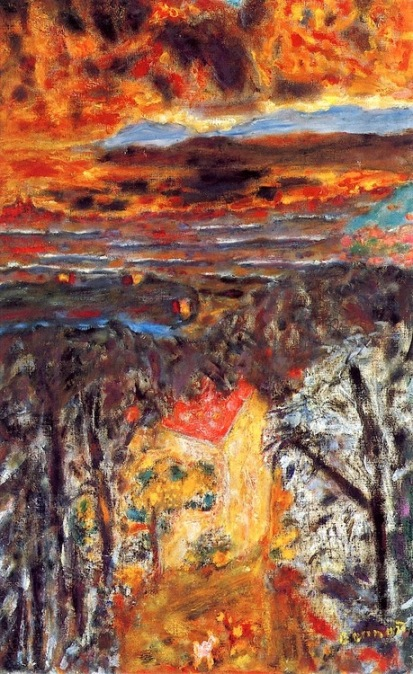 Pierre Bonnard Landscape, Pink House, Sunset c1934