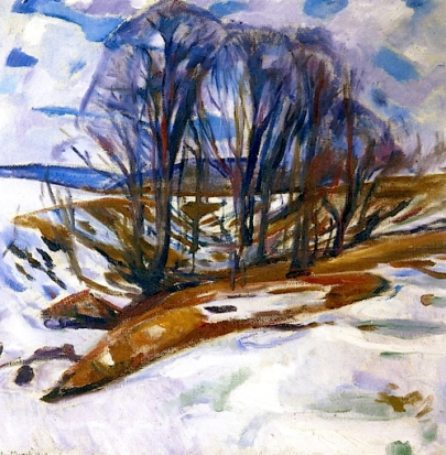 Edvard Munch Thawing Snow 1919