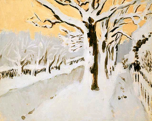 Fairfield Porter Late Afternoon Snow 1972