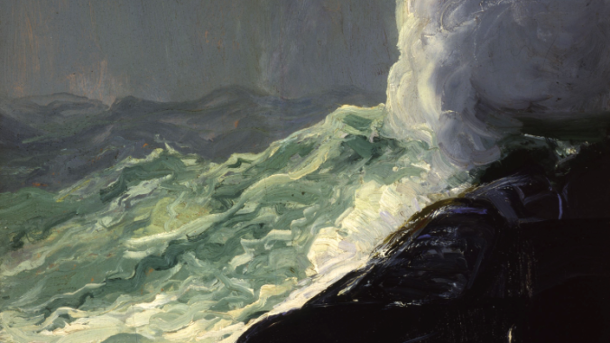George Bellows Churn and Break oil on panel 1913
