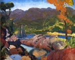 """Romance of Autumn, Sherman's Point"" (1916, oil on panel)"