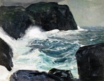 George Wesley Bellows Blackhead and Sea 1913 oil on panel