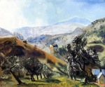 """Mountain Orchard"" (1922, oil on panel)"