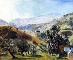 """""""Mountain Orchard"""" (1922, oil on panel)"""