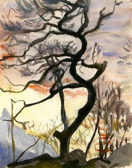Giovanni Giacometti Albero aka Tree 1920 watercolor on paper