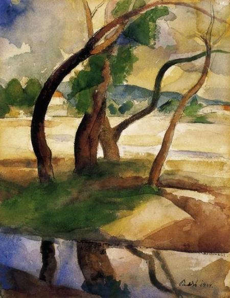 Károly Patkó, Trees 1924