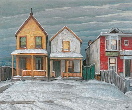 Lawren Harris Houses, Winter, City Painting V 1920