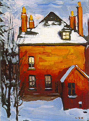 Lawren Harris Little House oil on paperboard 1911