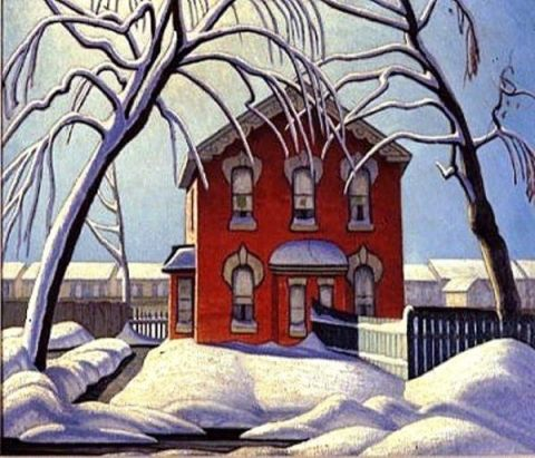 Lawren Harris Red House, Winter 1925