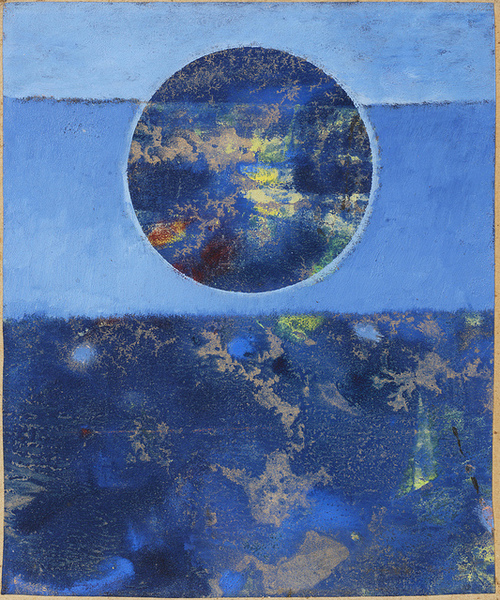 Max Ernst Violette Sonne, 1962 oil on waxed paper laid on board