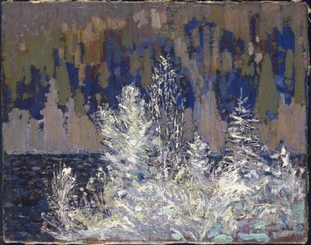 Tom Thomson Frost-Laden Cedars, Big Cauchon Lake 1916 oil on canvas