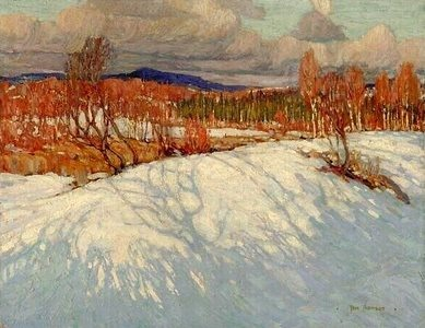 Tom Thomson In Algonquin Park 1914 oil on canvas