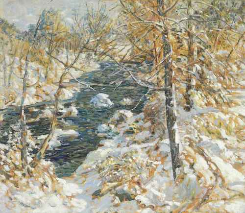 Walter Elmer Schofield Winter Stream c1925 oil on canvas