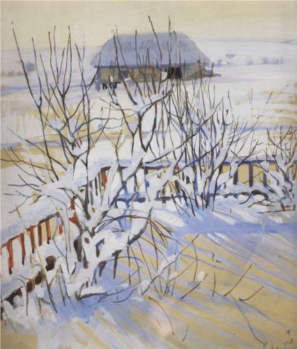 Zinaida Serebriakova Winter Landscape period Neskuchnoye 1910