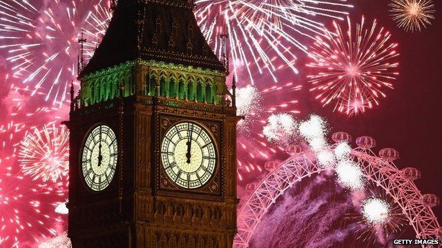 Big Ben 2014 fireworks