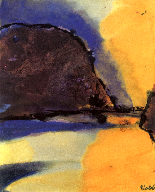 Emil Nolde Brown Mountain on a Lake