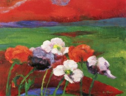 """Poppies and Red Evening Clouds"" (1949)"