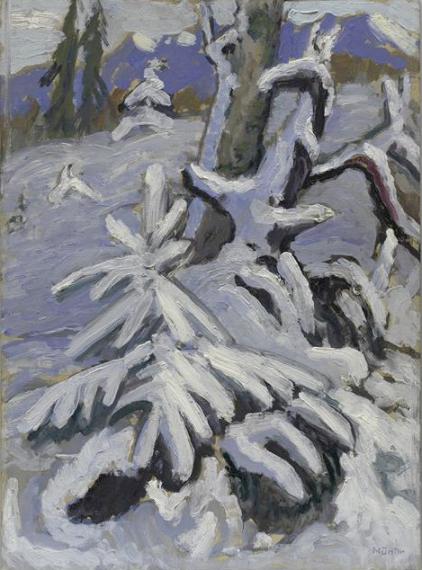 Gabriele Munter Paysage d'hiver 1933 huile sur bois