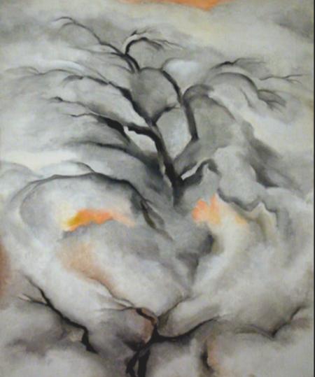 Georgia O'Keeffe Winter Trees, Abiquiu, I, 1950 oil on canvas