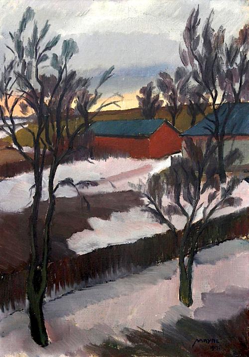 Henry Mayne Winter Landscape