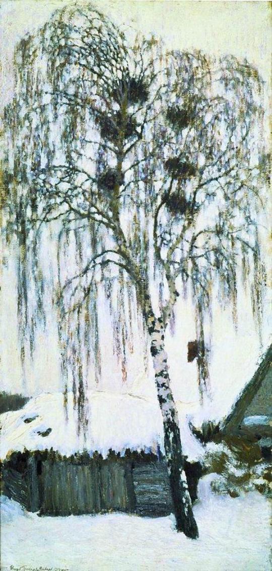 Igor Grabar Winter Rooks Nest 1904