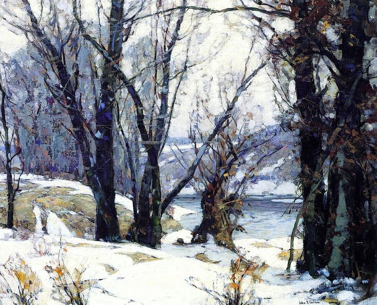 John Fabian Carlson WInter Willows c1935
