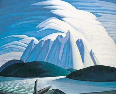 Lawren Harris Lake and Mountains 1928