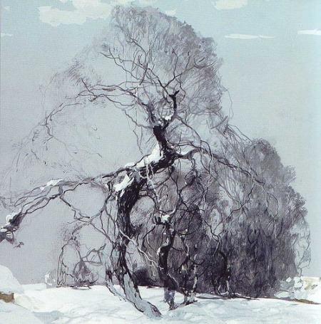 Stepan Kolesnikoff title unknown winter landscape