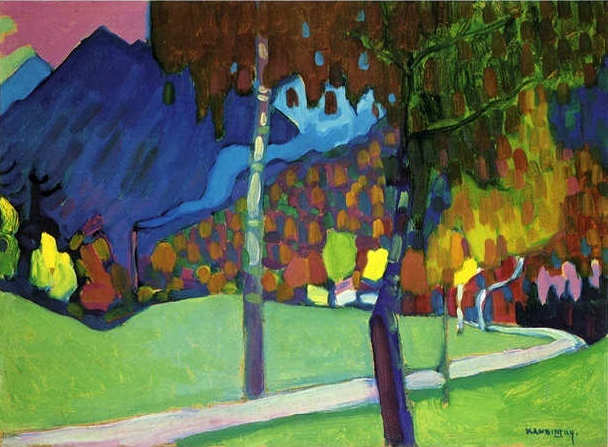 Wassily Kandinsky Autumn Study near Oberau 1908 oil on cardboard
