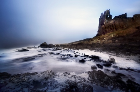 Castle Dunure Waves by overgraeme fcc