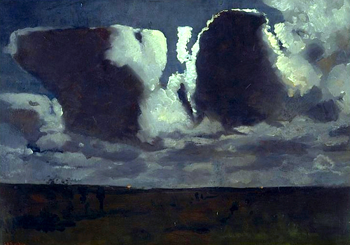 Georges Hendrik Breitner Moonlight Effect 1887-89 oil on canvas