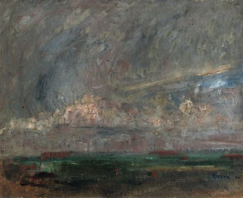 James Ensor Paysage 1880 oil on canvas