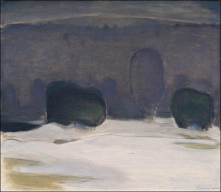 Einar Reuter paren H Ahtela  April oil on canvas 1966
