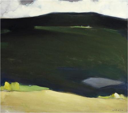 Einar Reuter paren H Ahtela Light on the Northern Hills 1960 oil on canvas