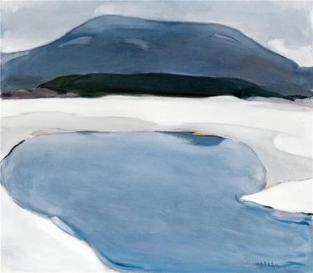 Einar Reuter paren H Ahtela Winter Landscape oil on canvas
