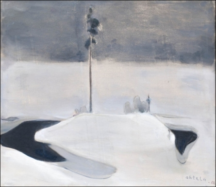Einar Reuter paren H Ahtela Wintry Source 1962 oil on canvas