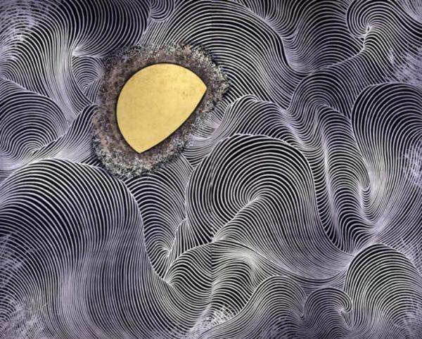 Kayama Matazo Moon 1978 color on paper