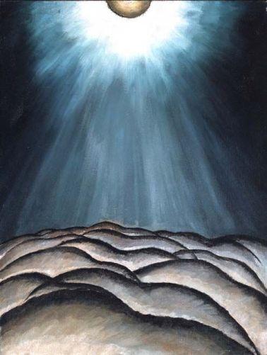 """Moon and Sea II"" (1923, oil on canvas) by Arthur Dove"